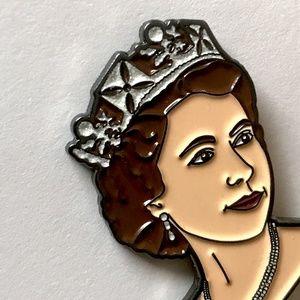 Queen Elizabeth II Soft Enamel Lapel Pin Brooch